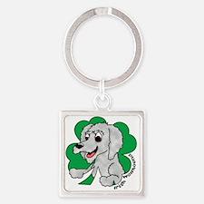 irishwolfhound_shamrock Square Keychain