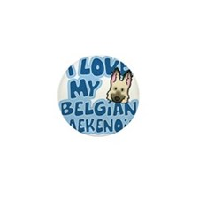 belgianlaek_animelove_ornament Mini Button