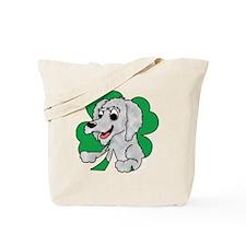 irishwolfhound_shamrock_blk Tote Bag