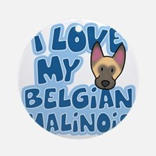 belgianmal_animelove Round Ornament