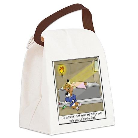 corgi_romeo_tile Canvas Lunch Bag