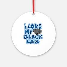 blacklab_animelove Round Ornament