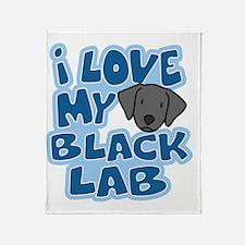 blacklab_animelove Throw Blanket
