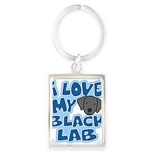 blacklab_animelove_ornament Portrait Keychain