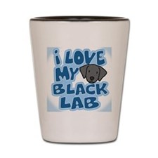 blacklab_animelove_ornament Shot Glass