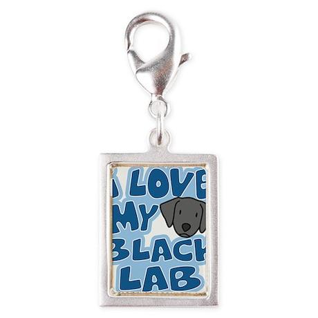 blacklab_animelove_ornament Silver Portrait Charm