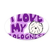 bolognese_animelove Oval Car Magnet