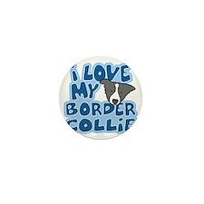 bordercollie_blk_animelove Mini Button