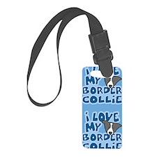 bordercollie_blk_animelove_stick Luggage Tag