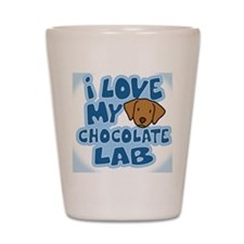 chocolatelab_animelove_ornament Shot Glass
