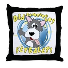 flyball-crazy Throw Pillow