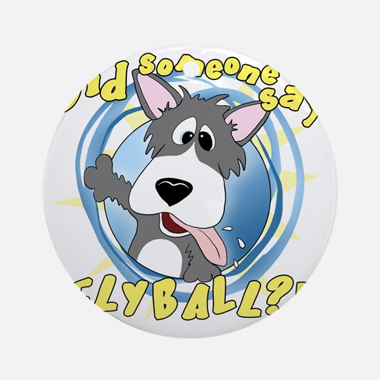 flyball-crazy Round Ornament