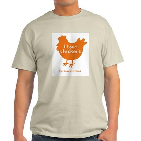 I love chickens Ash Grey T-Shirt