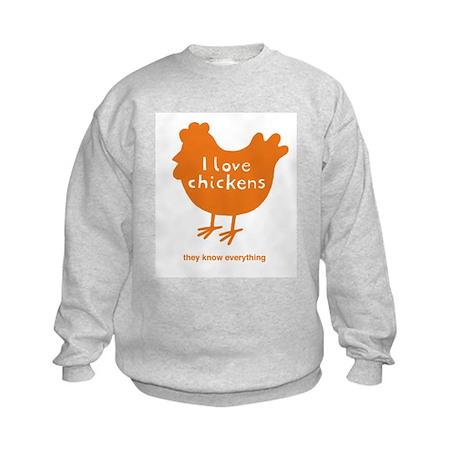 I love chickens Kids Sweatshirt