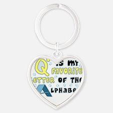 agility-favoriteletter Heart Keychain