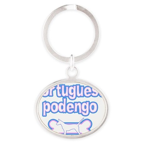 cutesy_portpodengo-smooth_hat Oval Keychain