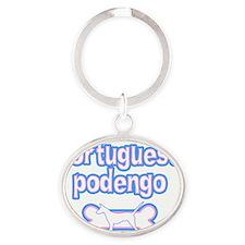 cutesy_portpodengo-smooth_hat Oval Keychain