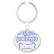 cutesy_portpodengo-wire Oval Keychain