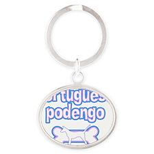 cutesy_portpodengo-smooth_sticker Oval Keychain