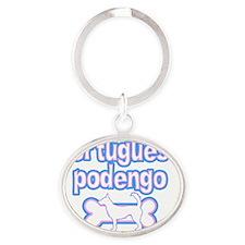 cutesy_portpodengo-wire_sticker Oval Keychain
