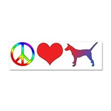 peacelove_portpodengo-smooth_bum Car Magnet 10 x 3