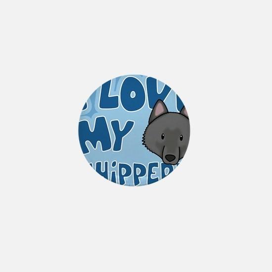 animelove_schipperke_ornament Mini Button