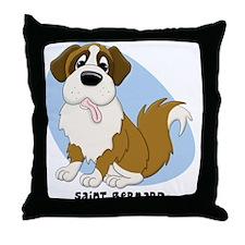 saintbernard_animation Throw Pillow