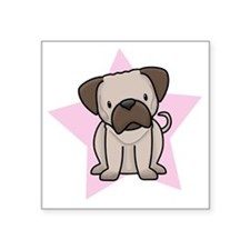 "staranime_pug Square Sticker 3"" x 3"""