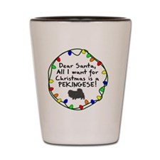 pekingese_dearsanta Shot Glass