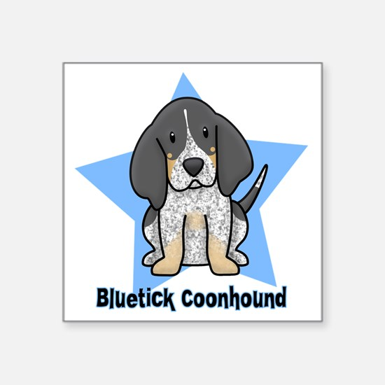 "staranime_bluetick_cp Square Sticker 3"" x 3"""
