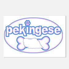 cutesy_pekingese_oval Postcards (Package of 8)