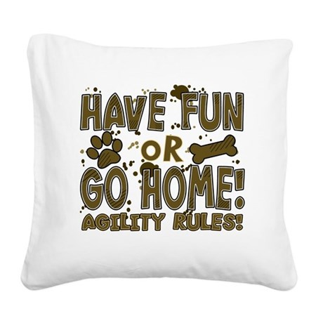 havefun_agility Square Canvas Pillow