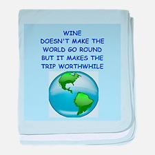 wine baby blanket