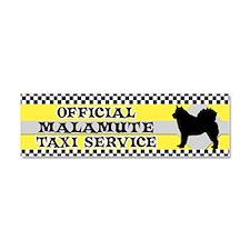 almalamute_taxi_bumper Car Magnet 10 x 3