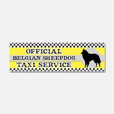 belgsheepdog_taxi_bumper Car Magnet 10 x 3