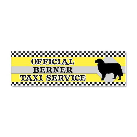bernese_taxi_bumper Car Magnet 10 x 3