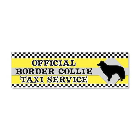 bordercollie_taxi_bumper Car Magnet 10 x 3