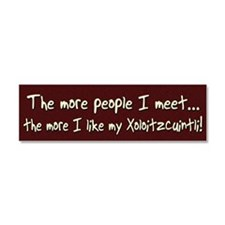 xolo_bumper_morepeople Car Magnet 10 x 3