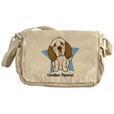 Clumber spaniel Canvas Messenger Bags