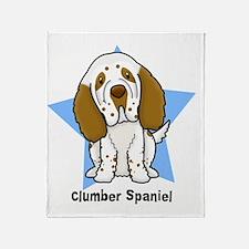 star_clumber Throw Blanket