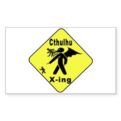 Cthulhu Crossing! Rectangle Decal