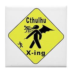 Cthulhu Crossing! Tile Coaster