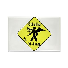 Cthulhu Crossing! Rectangle Magnet
