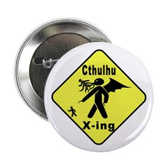 "Cthulhu Crossing! 2.25"" Button (100 pack)"