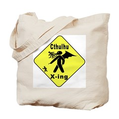 Cthulhu Crossing! (2-sided) Tote Bag