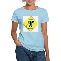 Cthulhu Crossing! Women's Pink T-Shirt