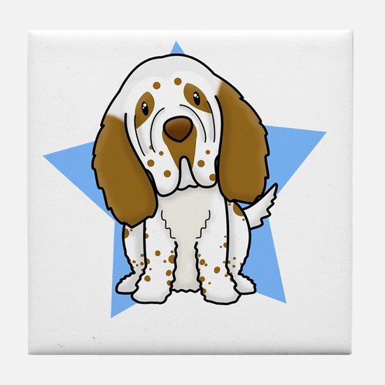 star_clumber_blk Tile Coaster