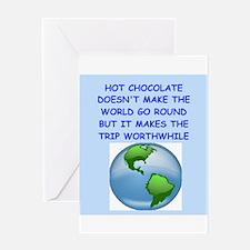hot,chocolate Greeting Card