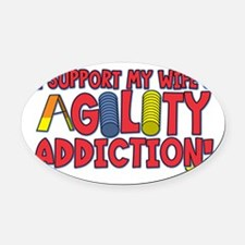 agility_support_wife Oval Car Magnet