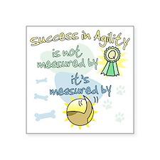 """measure_agility_success Square Sticker 3"""" x 3"""""""